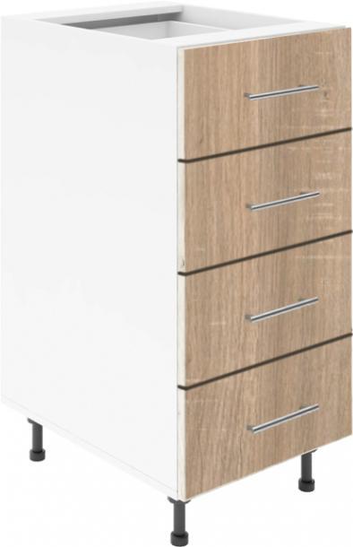 Крафт D4 долен шкаф с четири чекмеджета 40см, дъб сонома