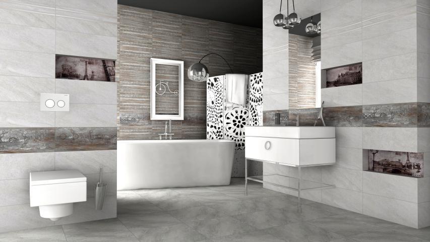 Фаянсова плочка Treviso Grey 20x50 см