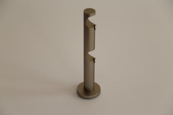 Конзола за двурелсов корниз ф19  АДИ никел мат