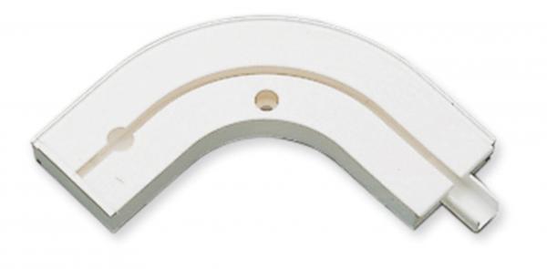 Аксесоар ъгъл 1-канален бяло