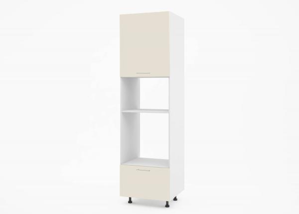 Крафт К2 колонен шкаф за фурна и микровълнова, крем гланц