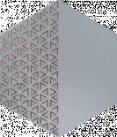 Декор Solid Triangle Silver 21.5x25