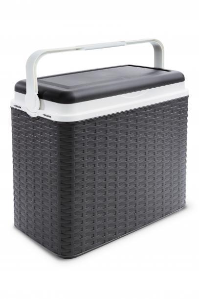 Хладилна кутия 24л, ратан - антрацит