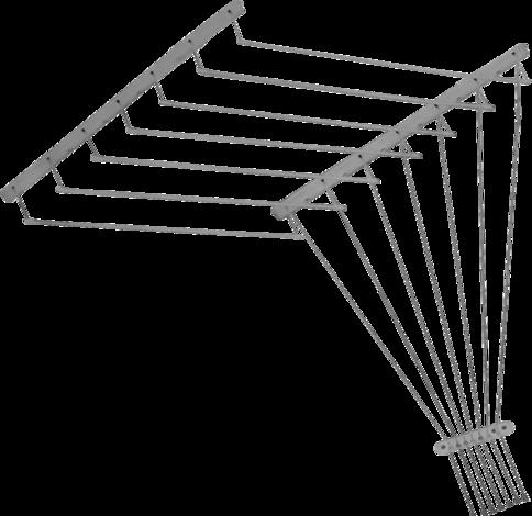 Таванен простир 7x1,6м