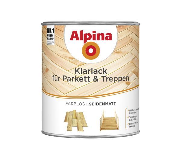 Акрилатен паркетен лак  Alpina 2в1 гланц 2 л