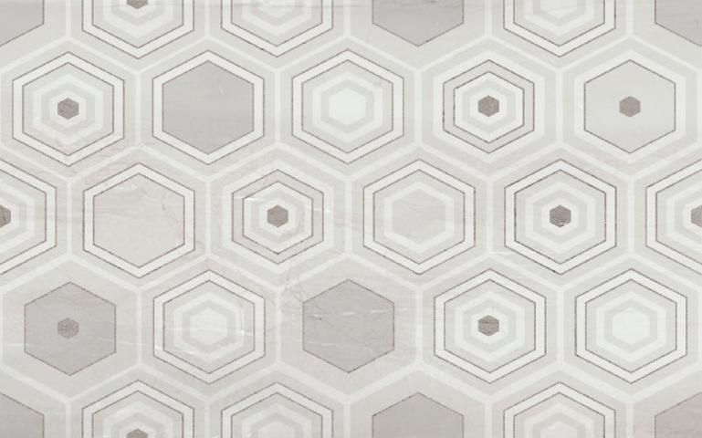 Фаянс Amberia Decor White 25x40