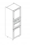 Ава шкаф колона за вграждане на фурна  и микровълнова 60х60