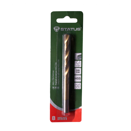 Свредло за метал HSS+TIN Status -  8мм