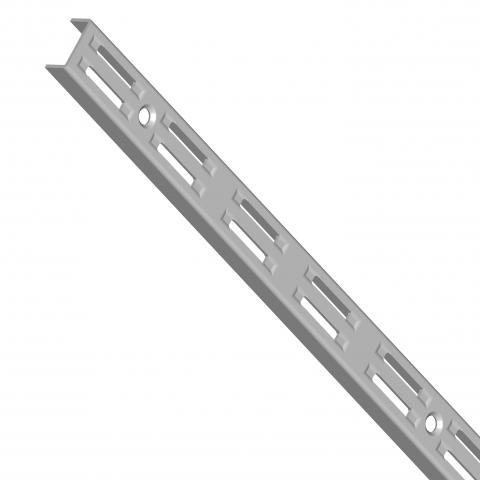 Шина за стена двуредова сребриста 2000мм