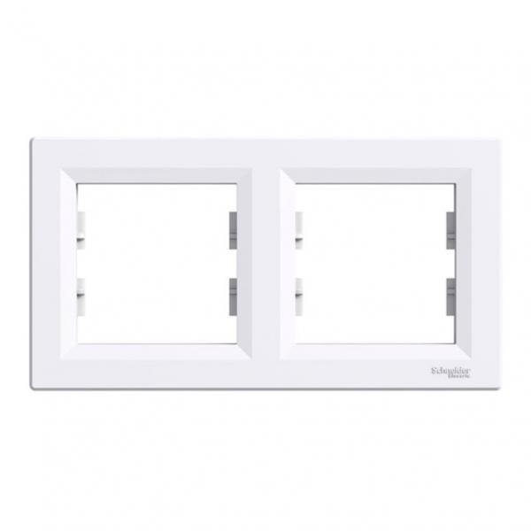 Двойна рамка бяла хоризонтална Asfora