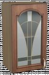 """Горен шкаф с една витрина """"Орех"""""""