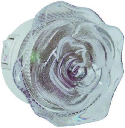Нощна лампа Rose LED розова