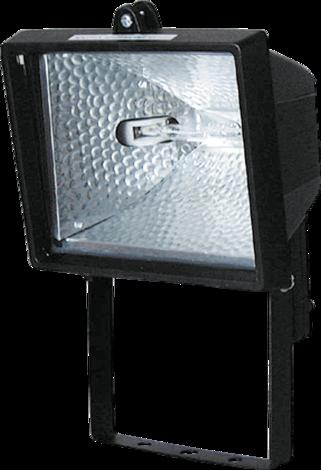 Халогенен прожектор 120W чер.