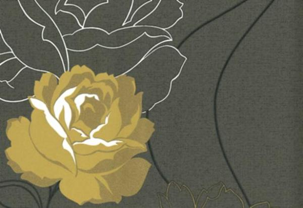 Тапет Кафяви цветя Бохем
