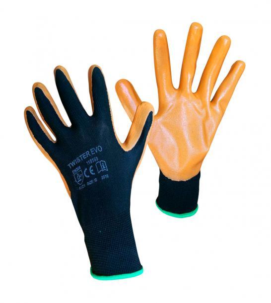 Ръкавици топени в нитрил Twister Evo n.10