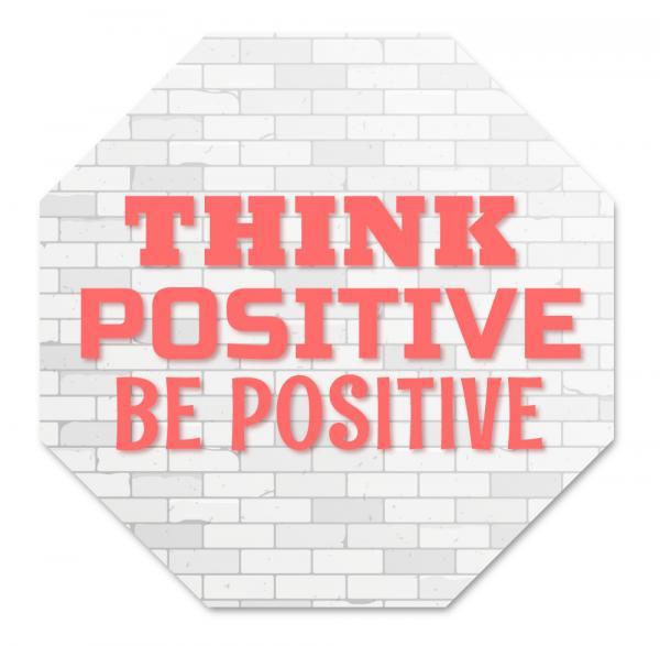 Картина с рамка ''Think positive''