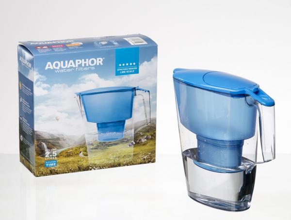 Кана за филтриране на вода Аквафор Тайм- Синя