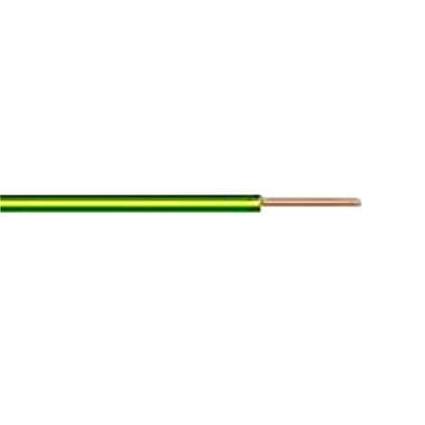 Кабел H05V-U 1x0.75mm2 жълто-зелен