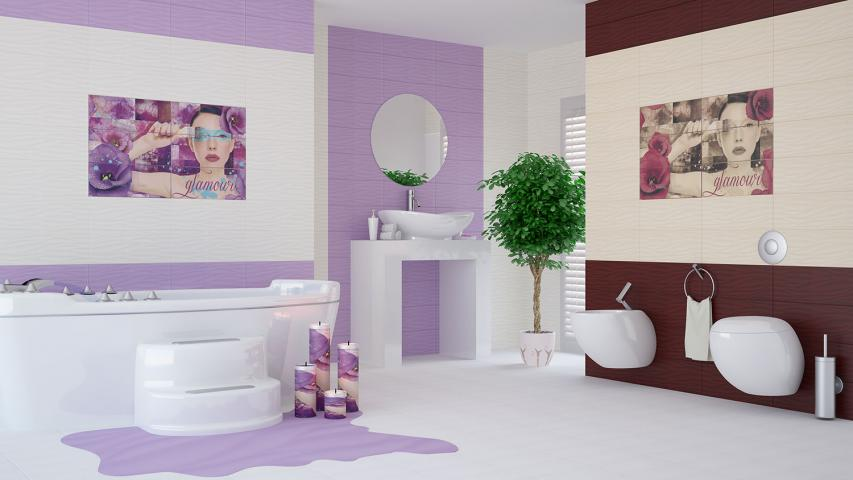Декор Marina Glamour Violet 2