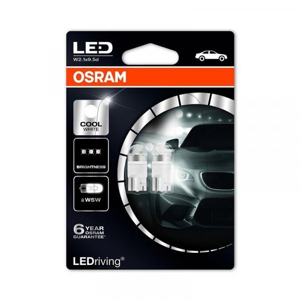 OSRAM LED 2850CW 12V W5W 6.000K 2 броя