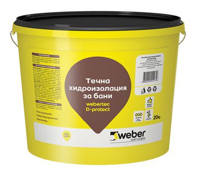 Готова за употреба хидроизолационна мембрана Webertec d-protect 5 кг