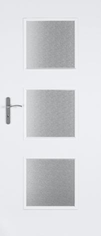 Интериорна врата Ксантос 70 см. остъклена, лява