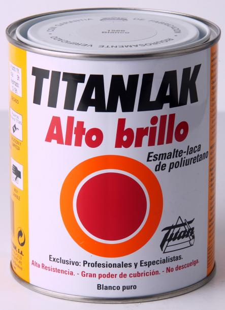 Алкидна боя Titanlak 1л, бял гланц