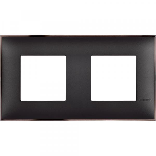 Рамка двойна черно/сатен Bticino