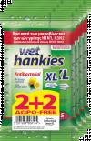 Мокри кърпички Антибактериални Lemon 15бр, 2+2 XL