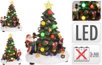 Фигурка Коледна елха с LEDсветлина