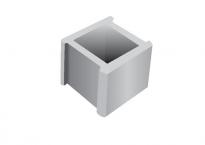 Тухла бетонова единична сива Лео 26х26х20