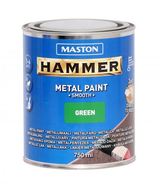 Алкидна боя Maston 3в1 0.75л, зелено