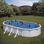 Овален басейн с 3 подпори 730x375х120см