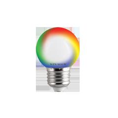 LED крушка G45 0,5W E27 RGB 60lm