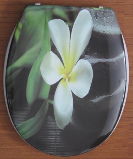 Тоалетна седалка цвете