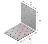 Планка ъглова равнораменна перфорирана 60х60х60х2
