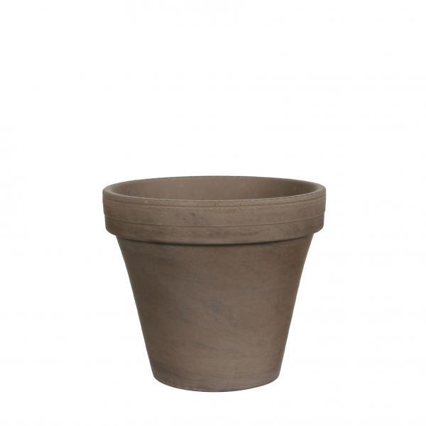 Саксия Stan ф17.5см, теракота базалтово сиво