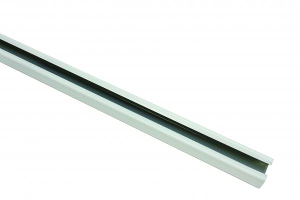 Корниз U-образна шина 290 см бяло