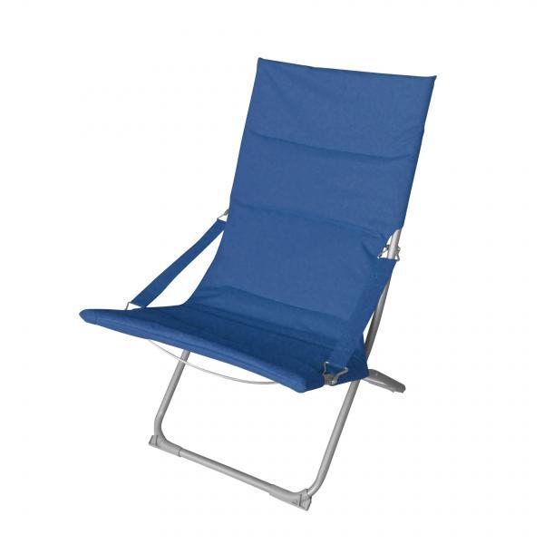 Сгъваем къмпинг стол син 77х65х98 см