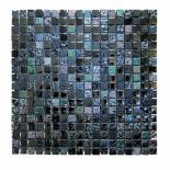 Стъклено-каменна мозайка сив/син