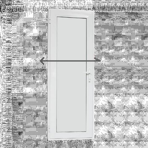 Алуминиева врата за баня 69/200см лява Ал профил