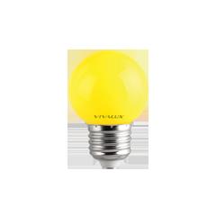 LED крушка G45 1W E27 жълта 60lm