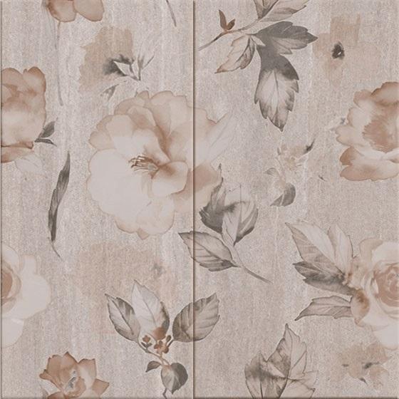 Декор комплект Калисто Цветя сив 50х50