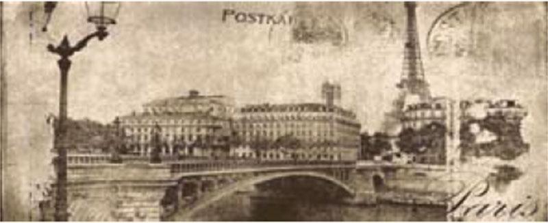 Декоративна фаянсова плочка Postcard beige inserto 1 20x50 см