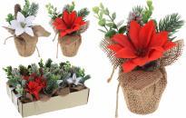 Коледна декорация в саксия с юта