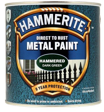 Боя за метал Hammerite 2.5л, зелен хамър ефект