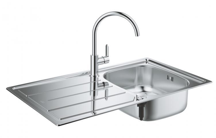 Кухненска мивка GROHE Sink Bundle 86x50 и смесител BauEdge