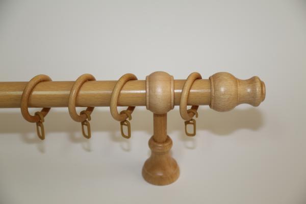 Корниз Ф28 еднорелсов Модел 5 PVC декорация 1.20 м. - натурален бук