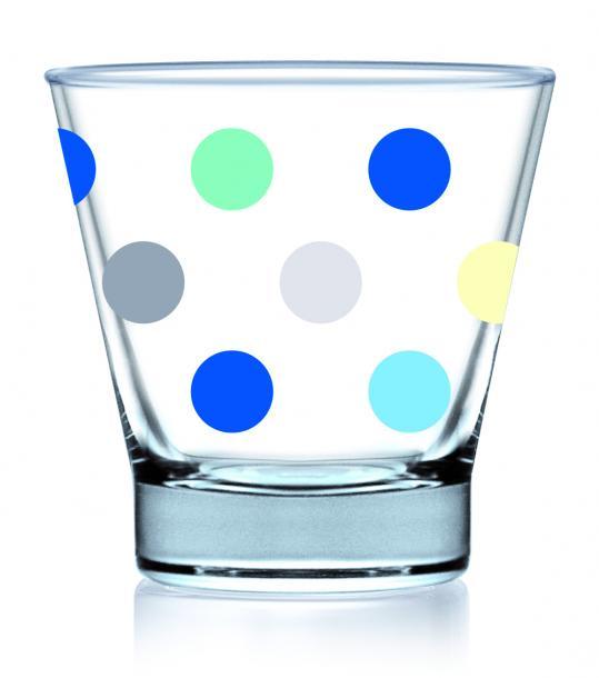 Чаши сини точки 345 мл, 3бр