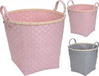 Плетена кошница 2 цвята